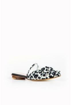 All Black Women's Jungle Bow Slide Sandal Women's Shoes