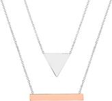 Bliss Two-Tone Geometric Pendant Necklaces