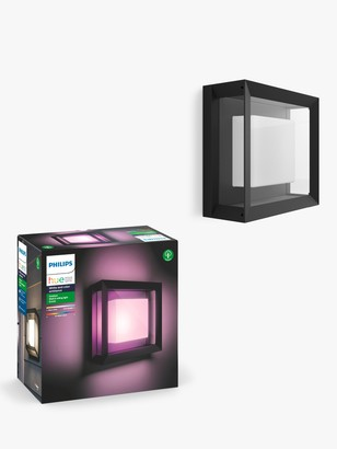 Philips Hue White and Colour Ambiance Econic LED Outdoor Wall Light, Black