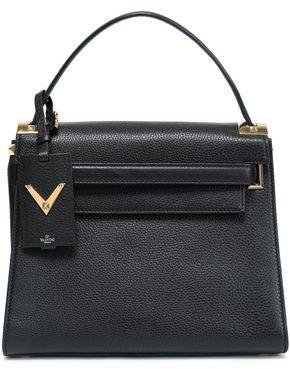 Valentino My Rockstud Pebbled-leather Tote