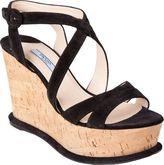 Prada Cork Wedge Sandal