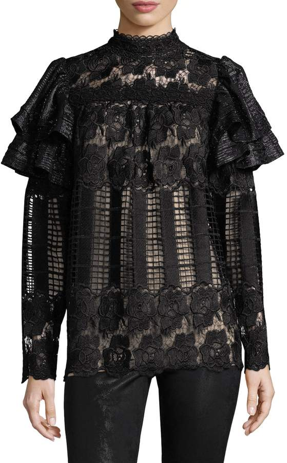 Anna Sui Women's Lace Victorian Blouse