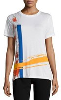 Prabal Gurung Abstract-Floral Print T-Shirt, White/Multi