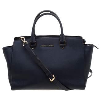 Michael Kors Selma Blue Leather Handbags