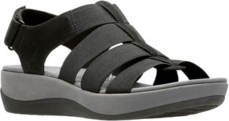 Clarks Cloudsteppers Fisherman Wedge Sandals -Arla Shaylie