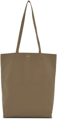 A.P.C. Taupe Maiko Shopping Tote