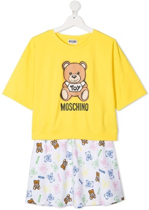 MOSCHINO BAMBINO TEEN Teddy Bear print tracksuit