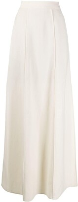Brunello Cucinelli Slit-Hem High Waisted Skirt