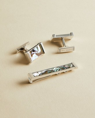 Ted Baker PINSAL Semi precious cufflinks and tie bar gift set