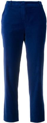 Pinko velvet cropped trousers