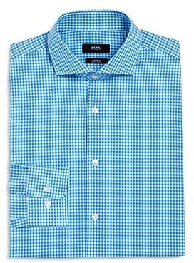 HUGO BOSS Gingham Regular Fit Dress Shirt