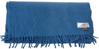 Hermes Blue Cashmere Scarves