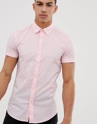 Benetton short sleeve shirt in pink