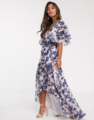 Keepsake halo floral gown-Multi
