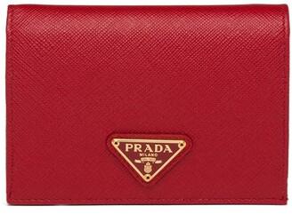Prada Logo-Plaque Wallet