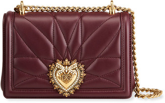 Dolce & Gabbana Devotion Mini Quilted Leather Crossbody Bag