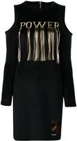 Roberto Cavalli embroidered 'power' dress