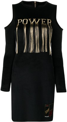 Roberto Cavalli embroidered 'power' dress