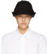 Y's Ys Black Brim Fold Cloche Hat