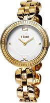 Fendi Women's 36mm Gold-Tone Steel Bracelet & Case Swiss Quartz Dial Analog Watch F351434000