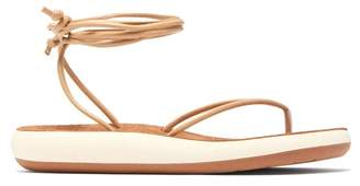 Ancient Greek Sandals Pieria Wraparound Leather Sandals - Womens - Tan