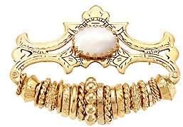 Gas Bijoux Women's Goldtone & Glass Cabochon Rings Brooch