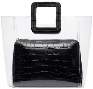 STAUD black Shirley leather tote bag