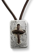James Avery Jewelry James Avery Sterling Silver Hand Knotted Leather Cross Shield Necklace