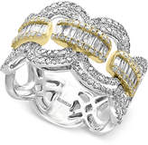 Effy Duo by Diamond Statement Ring (1-1/10 ct. t.w.) in 14k White and Yellow Gold