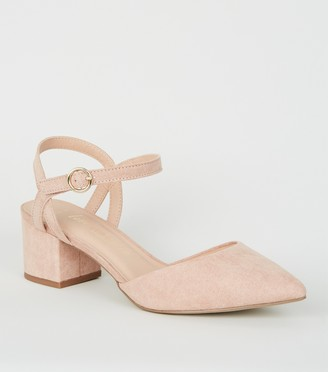 New Look Wide Fit Suedette Low Heel Court Shoes