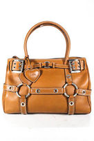 Luella Brown Leather Baby Gisele Satchel Handbag Size Medium