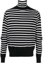 Striped Turtle-Neck Sweater