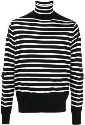 TAKAHIROMIYASHITA TheSoloist. Striped Turtle-Neck Sweater