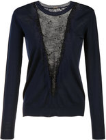 ADAM by Adam Lippes lace panel jumper - women - Nylon/Merino - XS