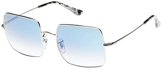 Ray-Ban Square 1971 Classic (Clear Gradient Blue) Fashion Sunglasses