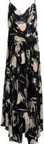 Haute Hippie The Solitaire ruffled floral-print chiffon and velvet maxi dress