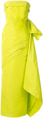 Bambah Faille Son pleated bow silk gown