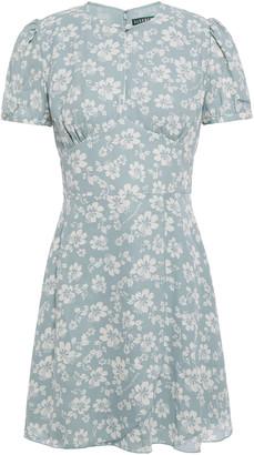 ALEXACHUNG Floral-print Crepe Mini Dress