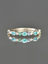 Kataoka Paraiba, Emerald, Diamond and Sapphire Ring