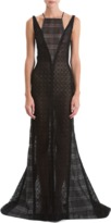 J. Mendel Lace Gown with Bib neck