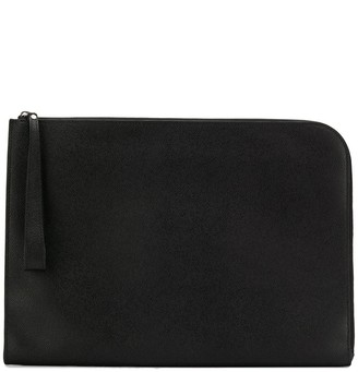 Valextra large zipped clutch bag