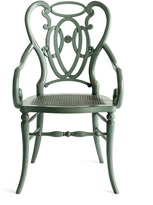 Horchow Green Scroll Armchair