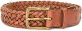 Polo Ralph Lauren interlaced leather belt - men - Calf Leather - 95