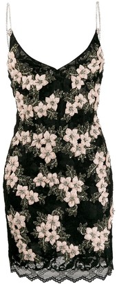 Magda Butrym Jakarta floral embroidered slip dress