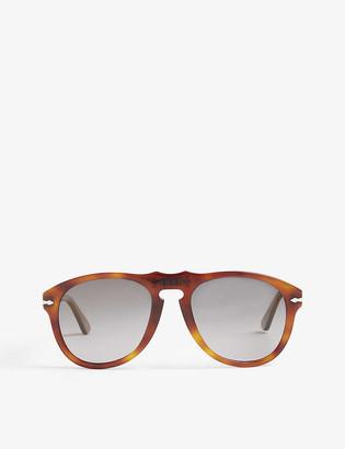 Persol PO0649 Terra di Siena aviator Havana sunglasses
