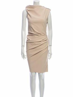 Lanvin Cowl Neck Knee-Length Dress