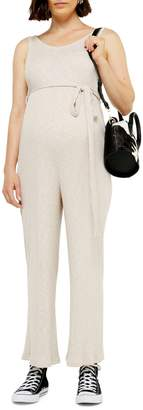 Topshop MATERNITY Ribbed Slouchy Jumpsuit