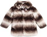 MonnaLisa Faux Fur Coat W/ Matching Collar