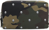 Alexander Mcqueen Skull Camouflage Wash Bag
