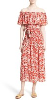 Rebecca Taylor Women's Cherry Blossom Silk Off The Shoulder Dress